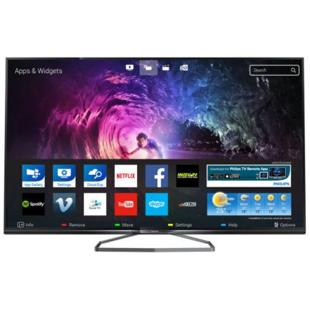 A2 Refurbished Philips 40 Inch Ultra HD WiFi 3D TV with 1 Year Warranty - 40PUS6809