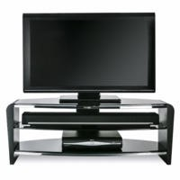 Alphason FRN1100/3BLK Francium BlackTV Cabinet - Up to 50 Inch