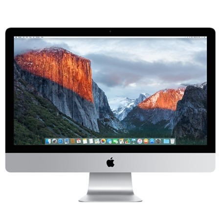 A1/MK472B/A Refurbished Apple iMac Retina 5K Core i5 8GB 1TB Fusion Drive 27 Inch OS X El Capitan AMD Radeon R9 M390 2GB Graphics  All in One PC - 2015