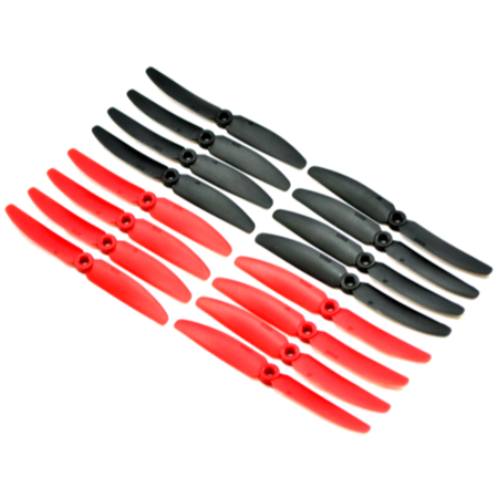 GemFan 5030 5x3 CW & CCW Propeller Pack Of 16 In Black & Red