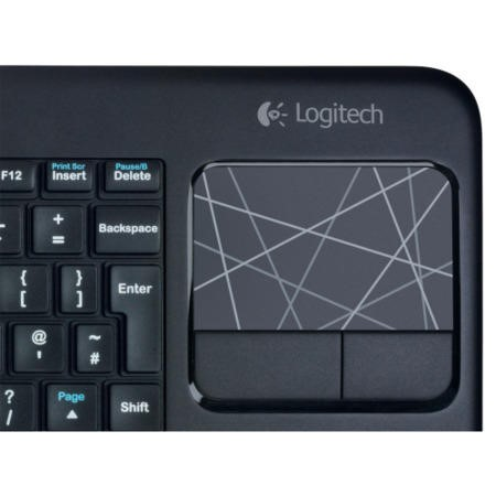 GRADE A1 - As new but box opened - Logitech Wireless Touch Keyboard K400 - Black