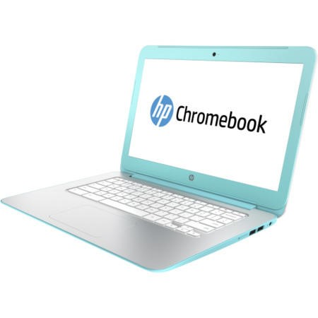 Refurbished Grade A1 HP Chromebook 14-x030nr Quad Core 2GB 16GB SSD 14 inch Chromebook in White & Turquoise