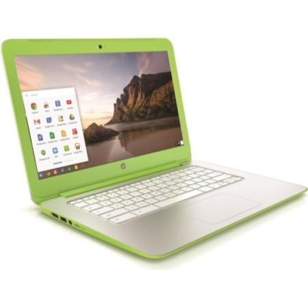 Refurbished Grade A1 HP Chromebook 14-x040nr 2GB 16GB SSD 13 inch Chromebook Laptop in White & Green