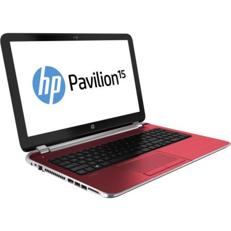 Refurbished Grade A1 HP Pavilion 15-n270sa Quad Core 4GB 750GB 15.6 inch DVDSM Windows 8.1 Laptop in Goji Berry Red
