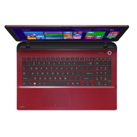 "GRADE A1 - As new but box opened - Toshiba Satellite L50-B-1HW Core i3-4005U 8GB 1B 15.6"" Windows 8.1 Laptop - in Black / Red"