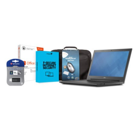 Dell Vostro Essential Bundle Office 365 Personal Tech Air Bag & Mouse 32GB USB Stick 1Yr F-Secure Internet Security