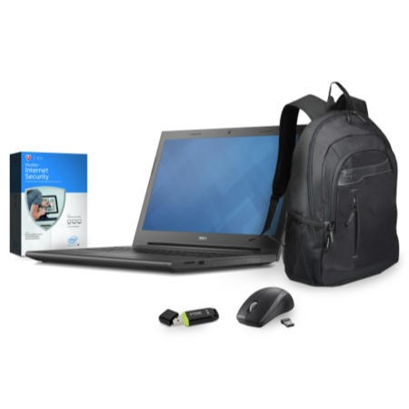 "Dell Vostro 3549 Essential Bundle 15.6"" Port Designs Bag & Mouse 32GB Flash Drive and 1Yr McAfee Internet Security"