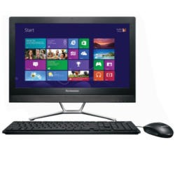 "A1 Refurbished Lenovo C460 Black Intel Pentium G3220T 2.6GHz 4GB 1TB DVD-RW 21.5"" Touchscreen Windows 8.1 All In One"