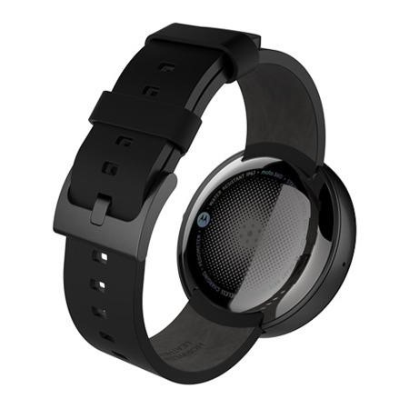 Motorola Moto360 Black / Black Leather - A2 Light Cosmetic Damage