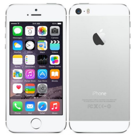 "ME433B/A Apple iPhone 5s Silver 4"" 16GB 4G Unlocked & SIM Free"