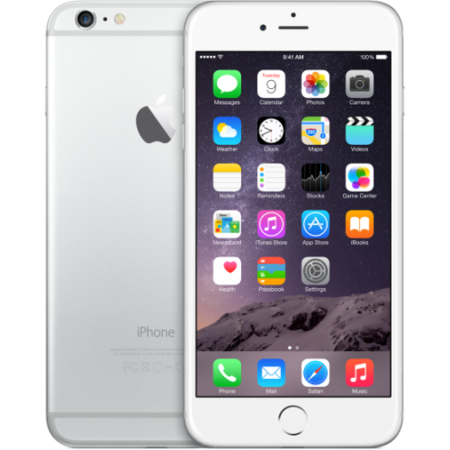 "Apple iPhone 6 Plus Silver 64GB 5.5"" 4G Unlocked & SIM Free"