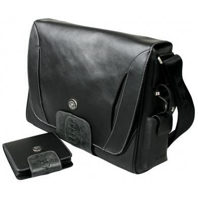Port Designs Lgendary leather/twill messenger 15.6""