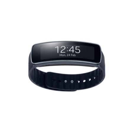 GRADE A1 - As new but box opened - Samsung Sim Free Gear Fit Charcoal - Black