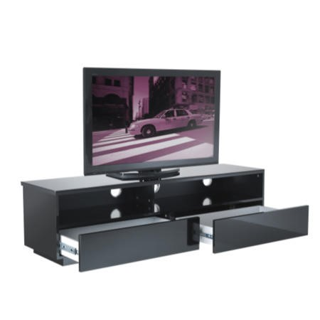 GRADE A2 - Light cosmetic damage - UKCF New York Gloss Black TV Cabinet - Up to 55 Inch