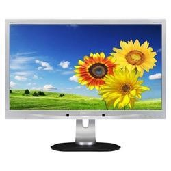 "Philips 241P4 24"" Widescreen LED 1920x1080. Height Adjustable Pivot Speakers. VGA HDMI Display Port. Silver. 3 Year Warranty."