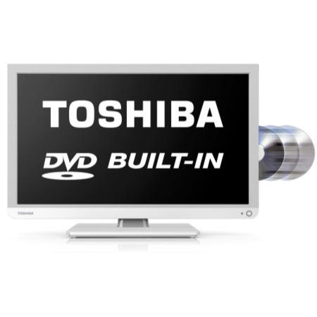 Ex Display - As new but box opened - Toshiba 22D1334B 22 Inch Freeview LED TV with built-in DVD Player