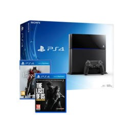 Sony Playstation 4 500GB Console with The Last of Us and Bloodborne bundle