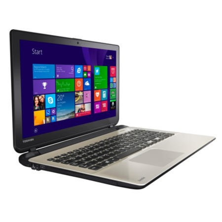 Refurbished Grade A1 Toshiba Satellite L50t-B-12R Core i5 8GB 1TB 15.6 inch Touchscreen Laptop in Gold