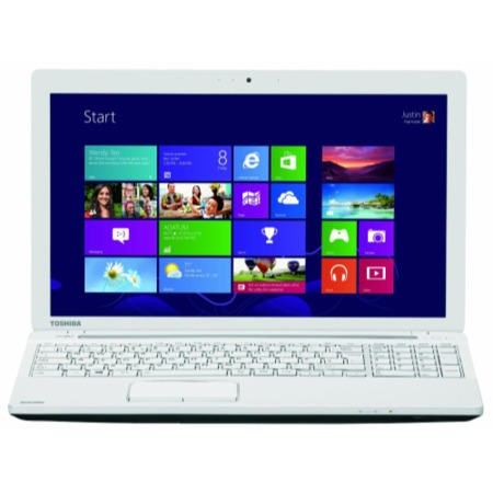 Refurbished GradeA1 Toshiba Satellite C55D-A-14W Quad Core 4GB 1TB 15.6 inch Laptop in White