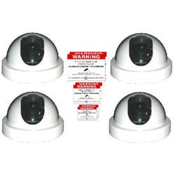 Internal Dummy Dome CCTV Camera External Dummy CCTV Camera Warning signs pack of 3. Sticky back