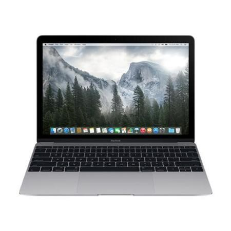 "New APPLE MacBook Space Grey - Core M 1.2GHz/2.6GHz 8GB LPDDR3 512GB SSD 12"" Retina IPS OS X 10.10 Yosemite NO-OD Intel HD 5300 webcam BT 4.0 USB-C 1YR 10hours"