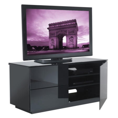 Ex Display - As new but box opened - UKCF Paris Gloss Black TV Cabinet - Up to 42 Inch
