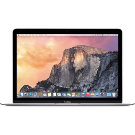 a1/MF855B/A Refurbished Apple MacBook Core M 8GB 256GB SSD 12 Inch OS X 10.10 Yosemite Retina Display Laptop - Silver 2015