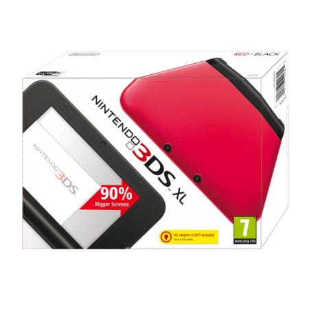 Nintendo 3DS XL Handheld Console - Red and Black