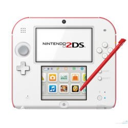 Nintendo 2DS Handheld Console - White and Red
