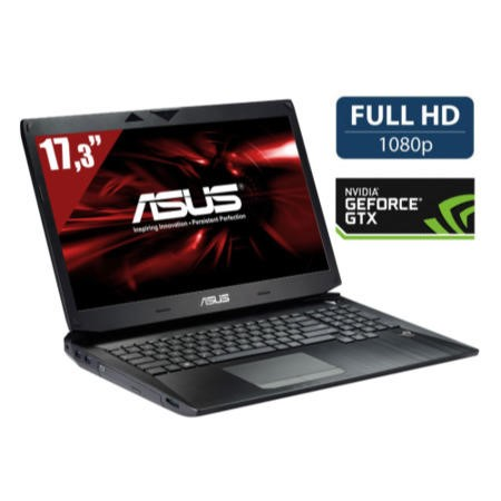 Refurbished Grade A1 Asus ROG G750JH Core i7 16GB 750GB 7200rpm 256GB SSD 17.3 inch Full HD Windows 8 Gaming Laptop
