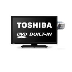 Ex Display - As new but box opened - Toshiba 22D1333 22 Inch Freeview LED TV with built-in DVD Player