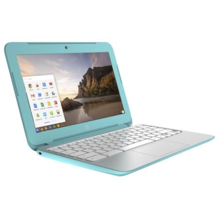 Refurbished Grade A1 HP 11-2001na 2GB 16GB SSD 11.6 inch Chromebook in Silver & Turqouise