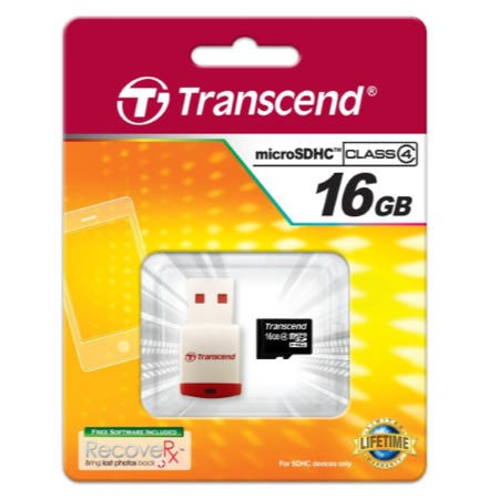 GRADE A1 - As new but box opened - Transcend 16GB Micro SD