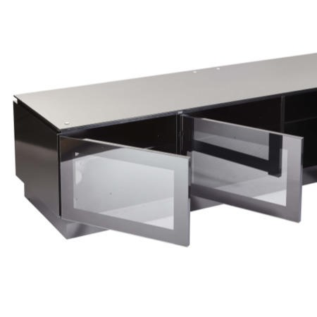 MMT Diamond D1800 Black TV Cabinet with Cantilever - Up to 50 Inch