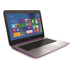 Refurbished Grade A2 HP Stream 14 Quad Core 2GB 32GB SSD 14 inch Windows 8.1 Laptop in Purple & Silver
