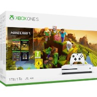 Xbox One S 1TB Console with Minecraft Collection - White