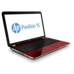 Refurbished Grade A2 HP Pavilion 15-e072sa Quad Core 4GB 750GB Windows 8 Laptop in Red & Black