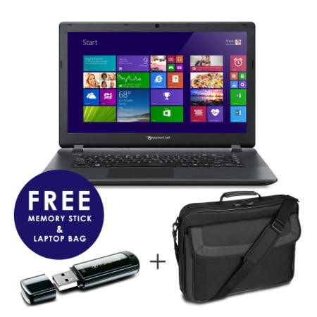 GRADE A1 - As new but box opened - Packard Bell EasyNote TF71BM-C9MA 2GB 320GB 15.6 inch Windows 8.1 Laptop - Free Bag and 8GB Memory Stick