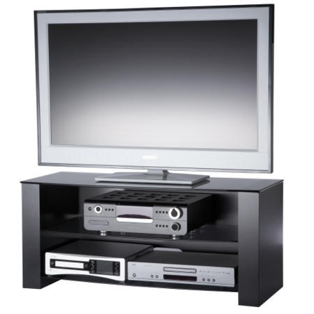 Alphason ANC1100/3-GR Black Ancora TV Stand - Up to 55 inch