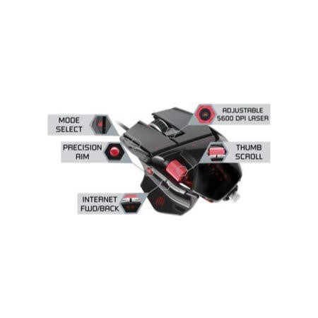 MadCatz Cyborg R.A.T. 5  5600dpi - Black Wired Gaming Mouse