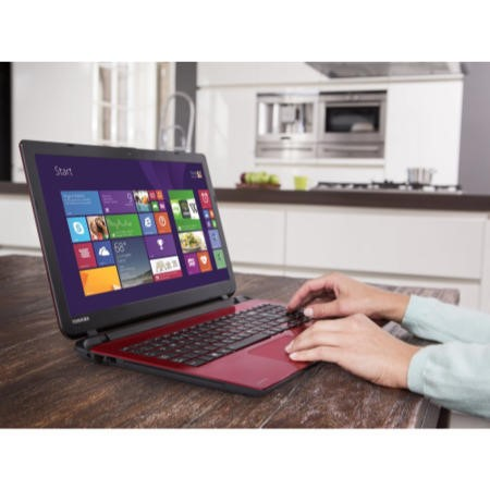 Refurbished Grade A1 Toshiba Satellite L50-B-1DV Core i5 8GB 1TB Windows 8.1 Laptop in Red & Black