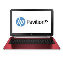 Refurbished Grade A1 HP Pavilion 15-n208sa Intel Quad Core 4GB 750GB Windows 8.1 Laptop in Goji Berry Red