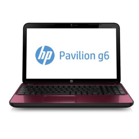 Refurbished Grade A2 HP Pavilion g6-2357ea Pentium Dual Core 6GB 750GB Windows 8 Laptop in Red & Black