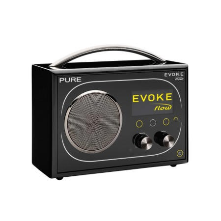 Refurbished GRADE A1 - As New - Pure Outlet Evoke Flow DAB Internet Radio - Black