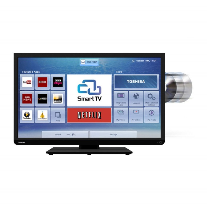 Toshiba 24d3433db 24 Inch Smart Led Tv With Built In Dvd Player