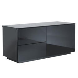 GRADE A3 - Moderate Cosmetic Damage - UKCF Paris Gloss Black TV Cabinet - Up to 42 Inch