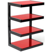 Norstone Esse Black and Red Hi-Fi Stand
