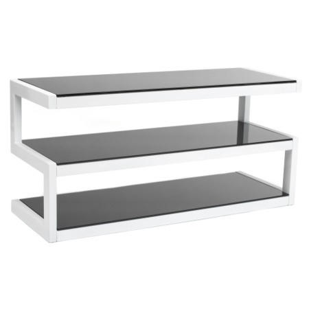 Norstone Esse White and Black TV Stand - Up to 50 Inch