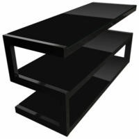 Norstone Esse Black and Black TV Stand - Up to 50 Inch