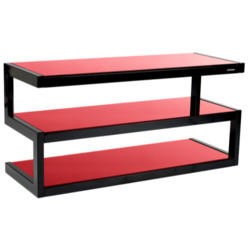 Norstone Esse Black and Red TV Stand - Up to 50 Inch